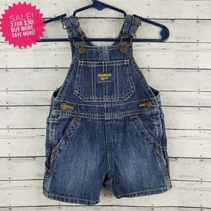 OshKosh B'Gosh Baby Denim Shortalls Overalls 3M